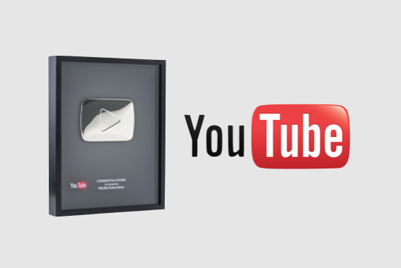 Silver Creator Award from YouTube